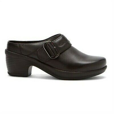Klogs CONNIE Women's Clogs BLACK Smooth Leather Display Model 7.5 M