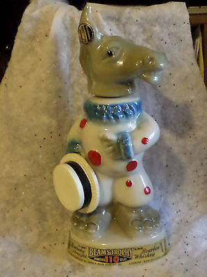 Vintage 1968 Empty Jim Bean Democrat Donkey Decanter