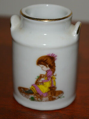 1976 PETTICOATS AND PANTALOONS PORCELAIN TOOTHPICK HOLDER MILK CAN