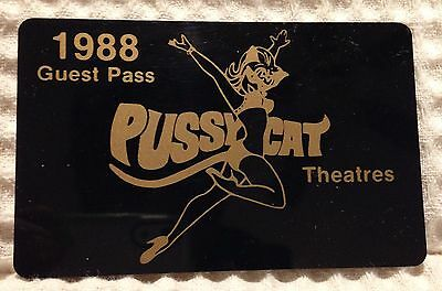 Authentic Pussycat Theatre Annual Guest Pass From 1988 - RARE