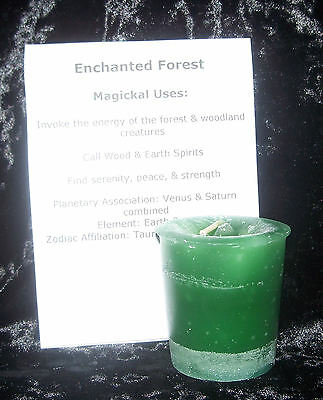 Enchanted FOREST CRYSTAL JOURNEY Candles Manifestation candle Earth SPIRIT magic
