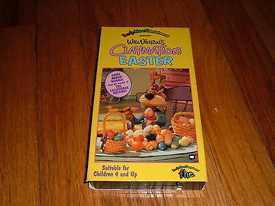 Will Vinton's Claymation Easter (VHS, 1993) Movie Holiday Bunny Wilshire Pig OOP