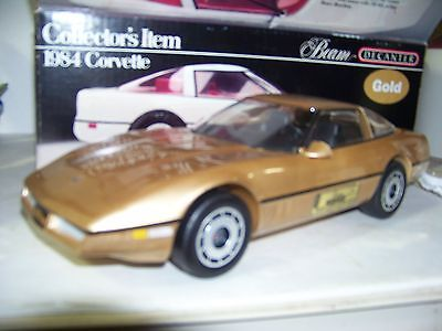 Jim Beam 1984 IAJBBSC Gold 1984 Corvette Decanter In Box never Displayed