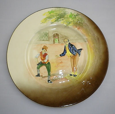 "Royal Doulton Series Ware  Low Relief "" DICKENS '  Pattern  RACK PLATE"