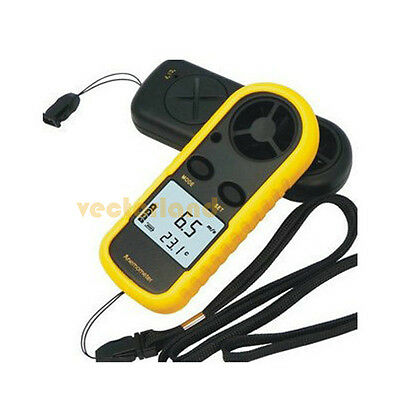 Mini Digital Handheld Anemometer Wind Speed Velocity Meter Thermomoter SailingUK