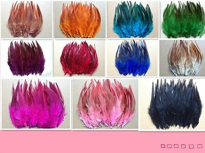 Wholesale!50/100pcs beautiful cock tail feathers of 5-6inch / 12-15cm 11colors