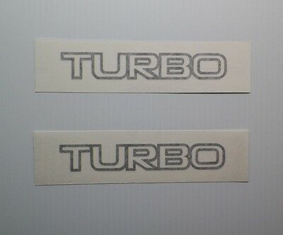 New 1981-1982 Fiat 124 Sport Spider 2000 TURBO Fender Decals Pair of2 Hood Trunk