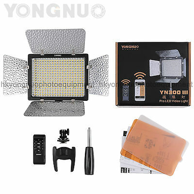Yongnuo YN300 III  LED Video Light 3200-5500k for Camera Camcorder w/ IR Remote