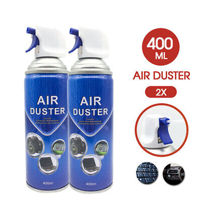 2x Compressed Air Duster Can Cleaner 400ml for Notebook Laptop PC Keyboard