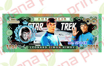Leonard Nimoy - Mr. Spock - Australian Novelty Money