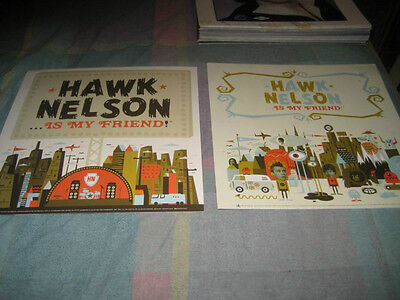 HAWK NELSON-(is my friend)-1 POSTER-2 SIDED-11X11-NMINT-RARE