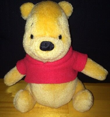 "Winnie The Pooh Bear 8"" Plush Gund 100 Acre Collection Stuffed Disney Clean"