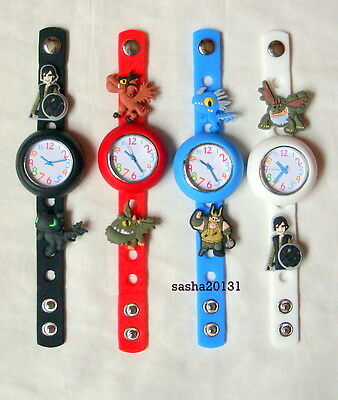 How To Train Your Dragon Jibbitz Band Watch & A Set Of 7 Charms, Brand New