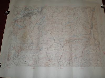 Vintage US Dept of Interior Geological Survey Topographic Map Concord, NH 1949