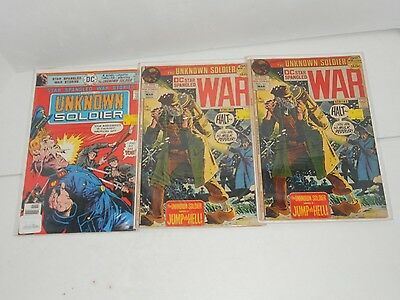 Vintage DC Comics Star Spangled War Stories Unknown Soldier #161 #202 Lot of 3