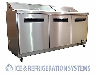"Sun Ice 72"" Commercial Salad & Sandwich Refrigerator Prep Table Cooler SUNST-72"