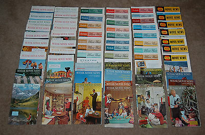 63 Issues of Kodak Movie News Magazines - circa 50's to 60's Vintage Home Movie