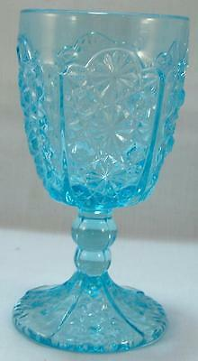 LG Wright - Daisy & Button Water Goblet - Blue