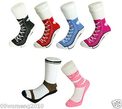 men women Silly Sock Sneaker Socks Cotton Converse Shoe Trainer Novelty Design