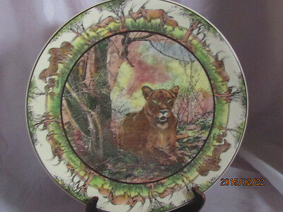 """Royal Doulton 13 1/2"""" African Series Chop Plate D6369 The Lioness"""