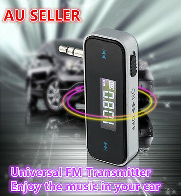 FM Radio Transmitter 3.5mm Aux Jack for HTC Samsung Nokia iPhone 6 Plus 5S 5
