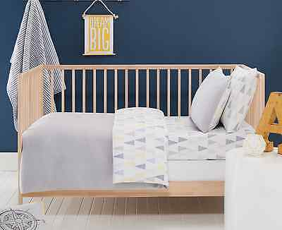 6 pce Baby Boys Crib Alexander Cot Cover Wool Quilt Sheet Set Designers Choice