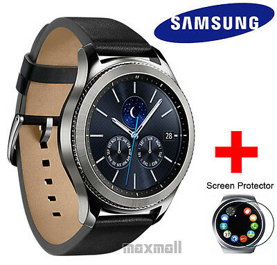 Genuine Samsung Gear S3 CLASSIC Bluetooth Smart Watch + 3 Screen Guards