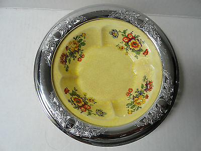 Collectors Plate Silver Trim for Farberware GOLDEN MAIRE Sebring Pottery Co. EXC
