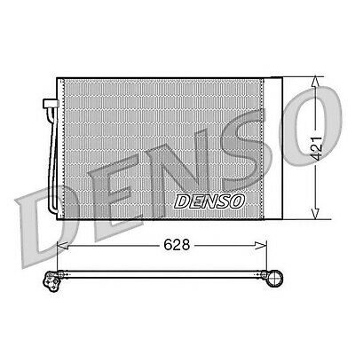 DENSO Air Conditioning Condenser - DCN05018 - A/C Car / Van / Engine Parts