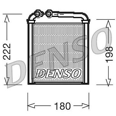 DENSO Heater Core Element - DRR32005 - Interior Heating - Genuine OE Part