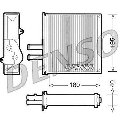 DENSO Heater Core Element - DRR09060 - Interior Heating - Genuine OE Part