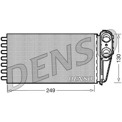 DENSO Heater Core Element - DRR21001 - Interior Heating - Genuine OE Part