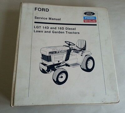 Ford New Holland LGT-14D LGT-16D lawn and garden tractor brochure