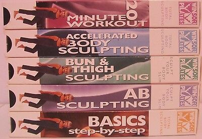 LOT OF 5 WINSOR PILATES VHS Exercise Tapes, Good Condition