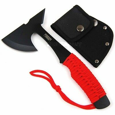 "9"" ZOMBIE Survival Tomahawk Throwing AXE Battle Hatchet Knife Apocalypse"