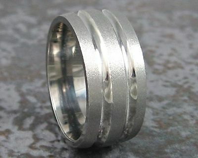Titanium Wedding Ring Unique Design Custom Made to ANY Size 3-20  Band NEW