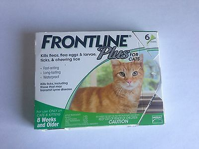 Frontline Plus For Cats 6 Months Supply Merial NOT KIT! NIB