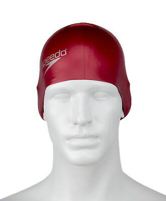 Speedo Long Hair Silicone Adult Unisex Swimming Cap - Red