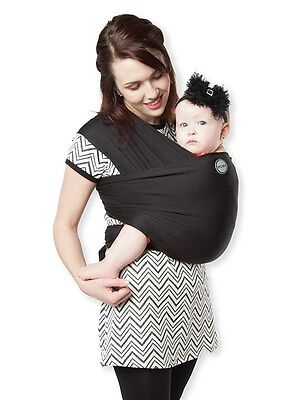 Authentic MOBY WRAP Classic Baby Carrier- BLACK -Great for Newborns!