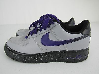 NIKE Air Force 1 Purple/Gray Shoes 314192-087 Youth Size 4Y GRADE SCHOOL GS