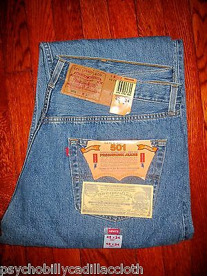 BRAND NEW w/ TAGS DEADSTOCK MADE IN THE USA ORIGINAL 501 JEANS by LEVI'S 42x34