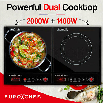 EUROCHEF 600mm Electric Cooktop Ceramic Glass - Touch Control - 4 Cook Top cm
