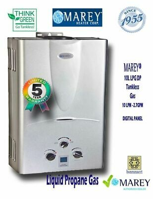 Best Tankless Propane On-Demand Water Heater Marey Digital GA10LPDP 2.7 GPM