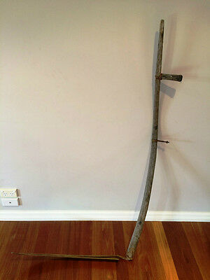 Vintage Collectable Rustic Large Farm Scythe Grim Reaper Zombie Halloween Prop