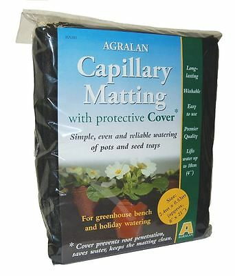 Agralan Black Greenhouse Capillary Matting With Protective Cover 2.4 X 0.53m