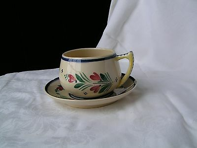Quimper HB Cup and saucer circa 1920-1983
