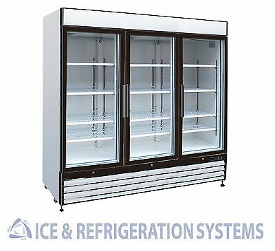 Sun Ice Commercial 72cf 3 Glass Door Merchandiser Cooler Refrigerator SI3-72RB