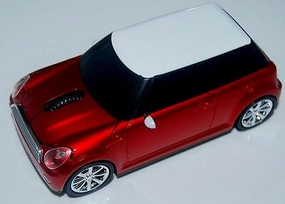 Wireless USB Mini Cooper car optical mouse Mice 3D PC/Laptop gift red