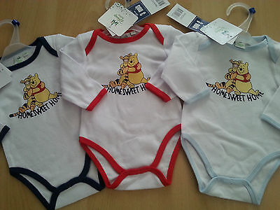 New Disney Baby Suits, Long Sleeve, Unisex, Onesie, Blue, Red, Navy Trims