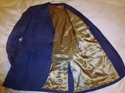 Austin Reed Linen Navy Blue And White Stripe Jacket Blazer Sport Coat Us Sz 40 149 00 Picclick